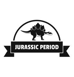 jurassic period logo simple black style vector image