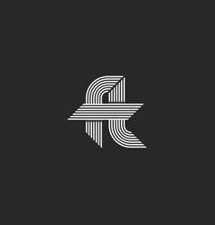 Letters ft logo idea monogram linked hipster f vector