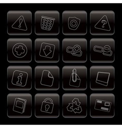 line web site and computer icons vector image