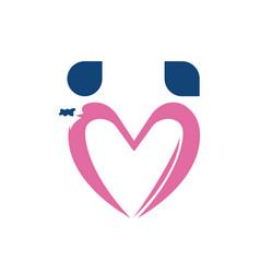 Love logo shape vector