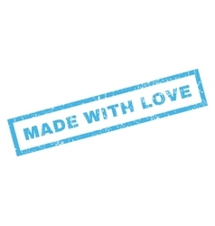 Made With Love Rubber Stamp vector