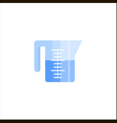 measuring cup flat icon logo isolated on white vector image
