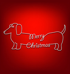 merry christmas and dog are united vector image