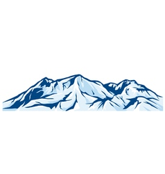 Mountain landscape - snowy mountain range vector
