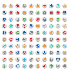 Multicolored buttons and signs vector image