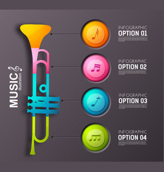 music infographic design concept vector image