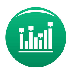 new chart icon green vector image