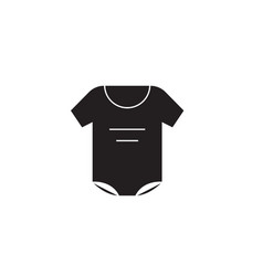 newborn clothes black concept icon newborn vector image
