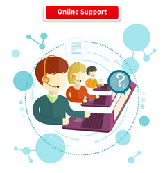 Online support concept vector