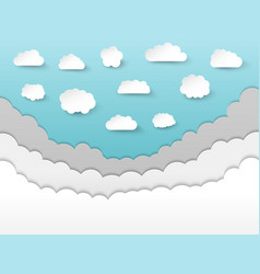 paper style sky composition vector image