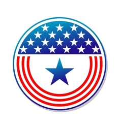 Patriotic American stars and stripes button vector