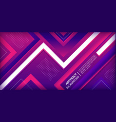 purple and pink gradient with geometric shapes vector image