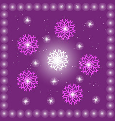 purple backgroundwith stars vector image