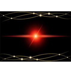 Red Abstract beam Light vector
