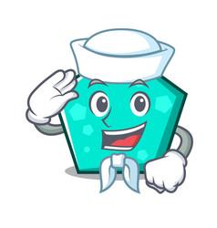 sailor pentagon character cartoon style vector image