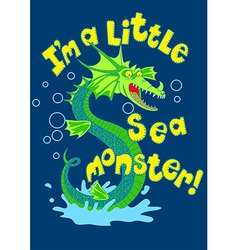 Sea monster splashing in some water vector