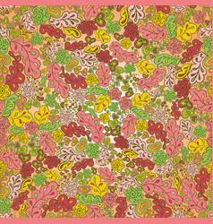 Seamless pattern sun flower green pink yellow vector