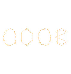 set golden geometric frames in art deco style vector image