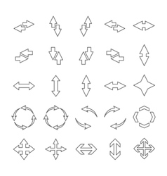 Set outline arrows vector image