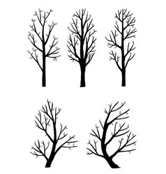Set side view tree vector
