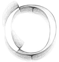 Sketch font Letter O vector image