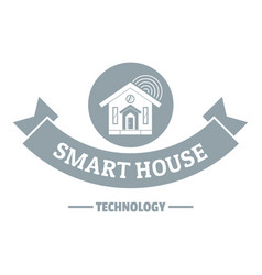 smart monitoring logo simple gray style vector image