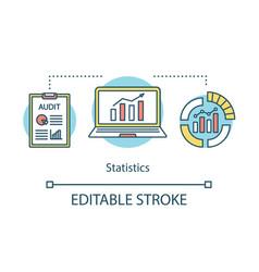 statistics studies concept icon data vector image