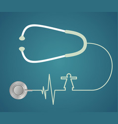 stethoscope in the shape of heart vector image