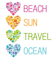 summer sea travel banner color wallpaper vector image