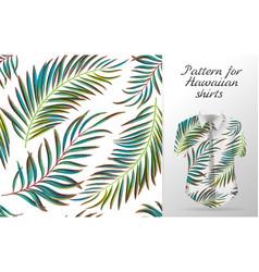 Tropical aloha pattern vector