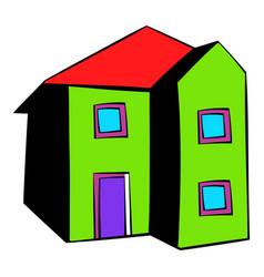 two-storey house icon icon cartoon vector image