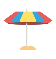 umbrella parasol sand beach vector image