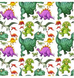 Various types of dinosaur seamless pattern vector