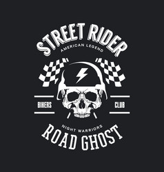 vintage bikers club t-shirt logo vector image
