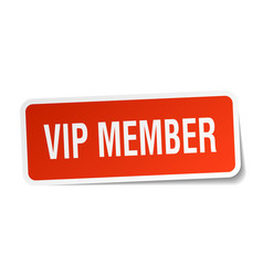 Vip member square sticker on white vector