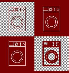 washing machine sign bordo and white vector image