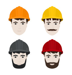 Working men in hard hats vector