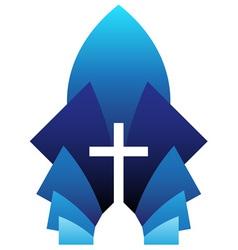 blue cross symbol vector image vector image