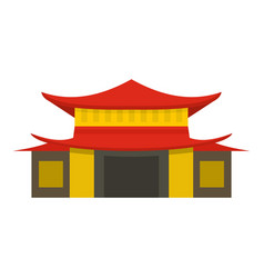 chinese temple icon isolated vector image