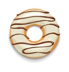 Glazed donut icon cartoon style vector image vector image