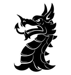 heraldic dragon head simple vector image