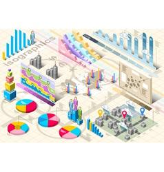 Isometric infographic set elements vector