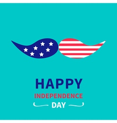 Mustaches with stars and stripes independence day vector image vector image