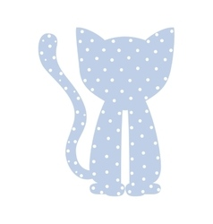 Pattern with cat domestic animal color vector