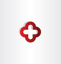 red cross plus logo sign vector image