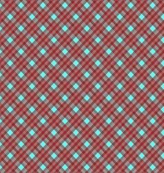 Seamless cross dark red blue diagonal pattern vector image