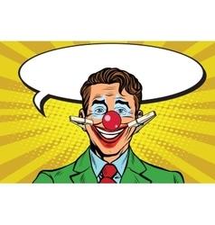 Clown face smile on clothespins vector
