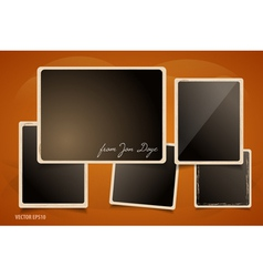 Collection of Grunge Foto Frames vector image