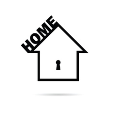 home black and white vector image