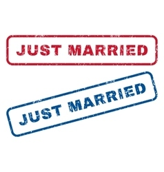 Just Married Rubber Stamps vector image vector image